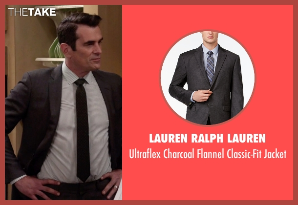 Lauren Ralph Lauren gray jacket from Modern Family seen with Phil Dunphy (Ty Burrell)