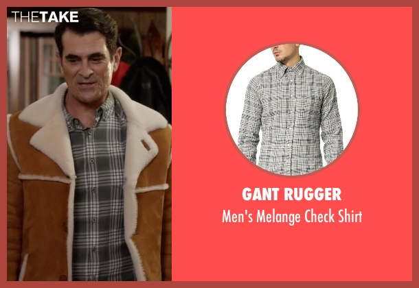 Gant Rugger gray shirt from Modern Family seen with Phil Dunphy (Ty Burrell)