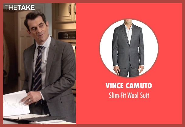 Vince Camuto gray suit from Modern Family seen with Phil Dunphy (Ty Burrell)