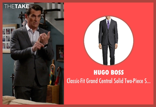Hugo Boss gray suit from Modern Family seen with Phil Dunphy (Ty Burrell)