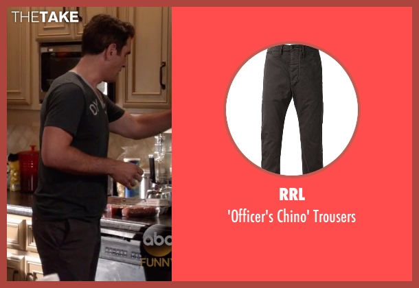 RRL gray trousers from Modern Family seen with Phil Dunphy (Ty Burrell)