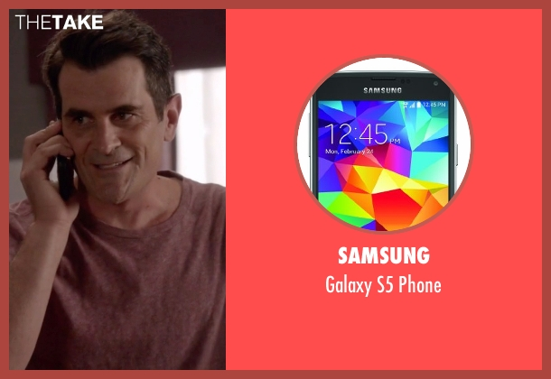 Samsung phone from Modern Family seen with Phil Dunphy (Ty Burrell)