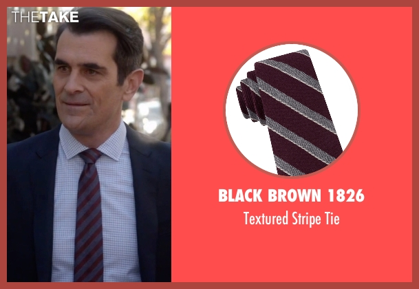 Black Brown 1826  red tie from Modern Family seen with Phil Dunphy (Ty Burrell)