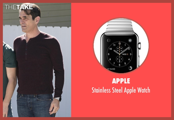 Apple silver watch from Modern Family seen with Phil Dunphy (Ty Burrell)