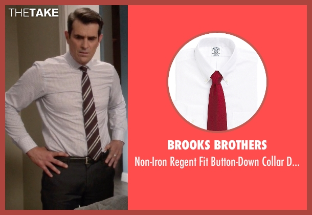Brooks Brothers white shirt from Modern Family seen with Phil Dunphy (Ty Burrell)