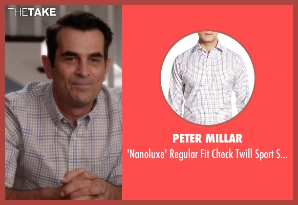 Peter Millar white shirt from Modern Family seen with Phil Dunphy (Ty Burrell)