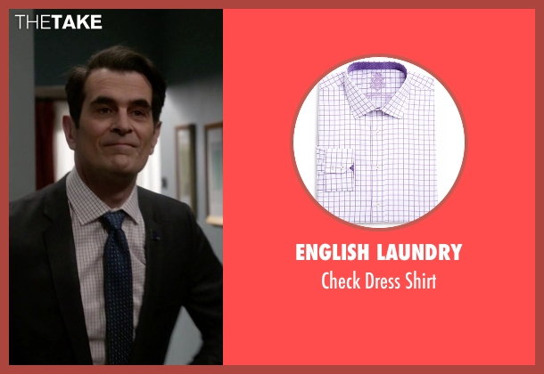 English Laundry white shirt from Modern Family seen with Phil Dunphy (Ty Burrell)