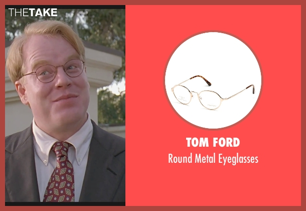 Tom Ford eyeglasses from The Big Lebowski seen with Philip Seymour Hoffman (Brandt)