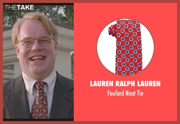 Lauren Ralph Lauren red tie from The Big Lebowski seen with Philip Seymour Hoffman (Brandt)