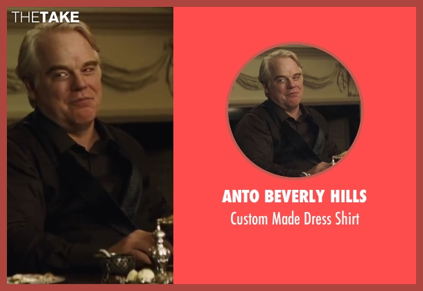 Anto Beverly Hills shirt from The Hunger Games: Catching Fire seen with Philip Seymour Hoffman (Plutarch Heavensbee)