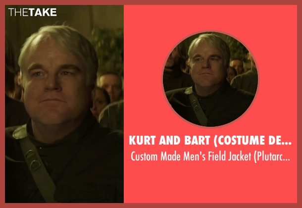 Kurt and Bart (Costume Designer) jacket from The Hunger Games: Mockingjay - Part 2 seen with Philip Seymour Hoffman (Plutarch Heavensbee)