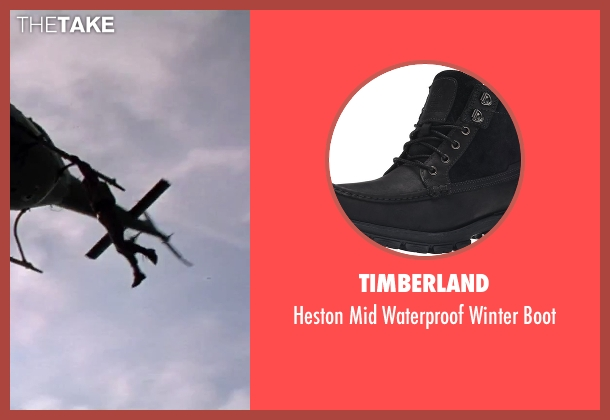 Timberland black boot from GoldenEye seen with Pierce Brosnan (James Bond)