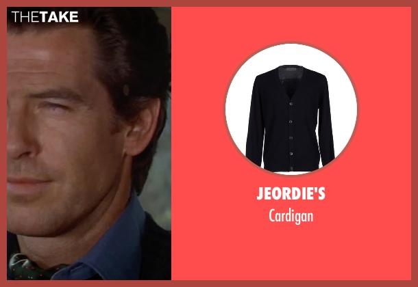 Jeordie's black cardigan from GoldenEye seen with Pierce Brosnan (James Bond)
