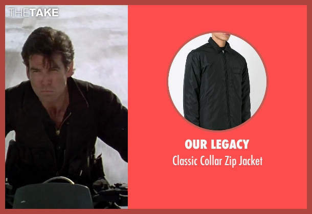 Our Legacy black jacket from GoldenEye seen with Pierce Brosnan (James Bond)