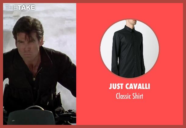 Just Cavalli black shirt from GoldenEye seen with Pierce Brosnan (James Bond)