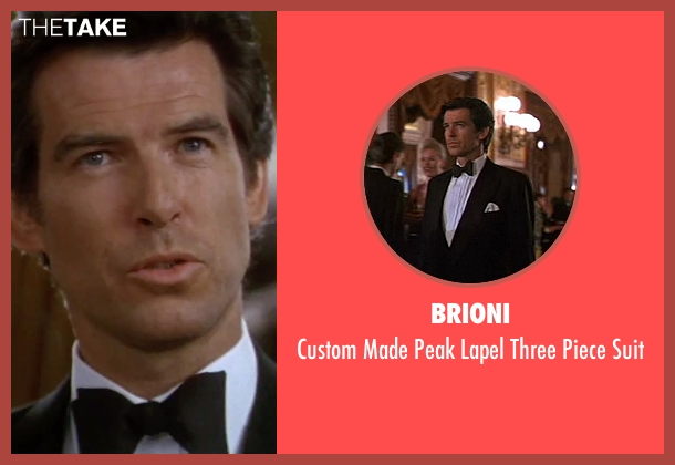 Brioni black suit from GoldenEye seen with Pierce Brosnan (James Bond)
