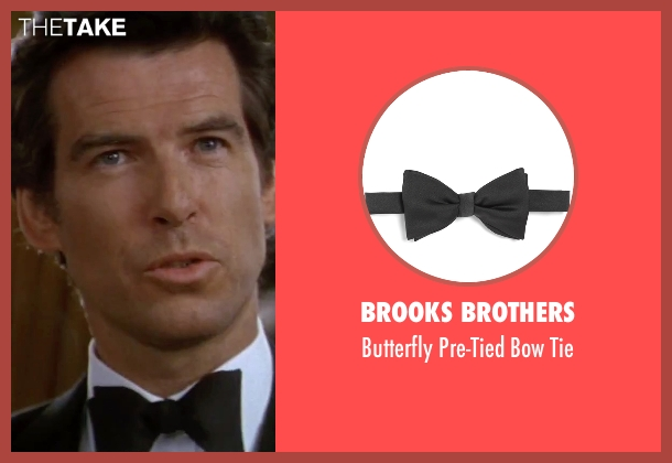 Brooks Brothers black tie from GoldenEye seen with Pierce Brosnan (James Bond)