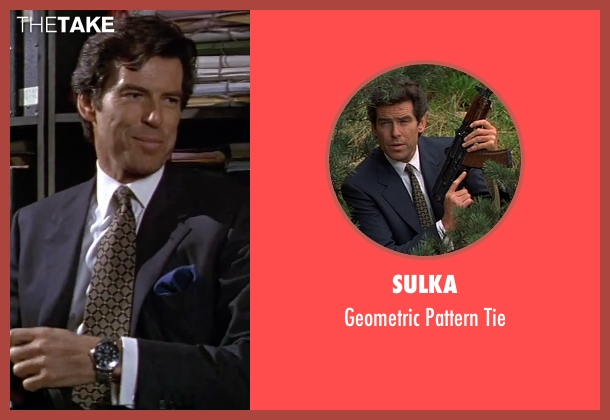 Sulka black tie from GoldenEye seen with Pierce Brosnan (James Bond)