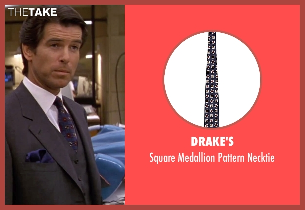 Drake's blue necktie from GoldenEye seen with Pierce Brosnan (James Bond)