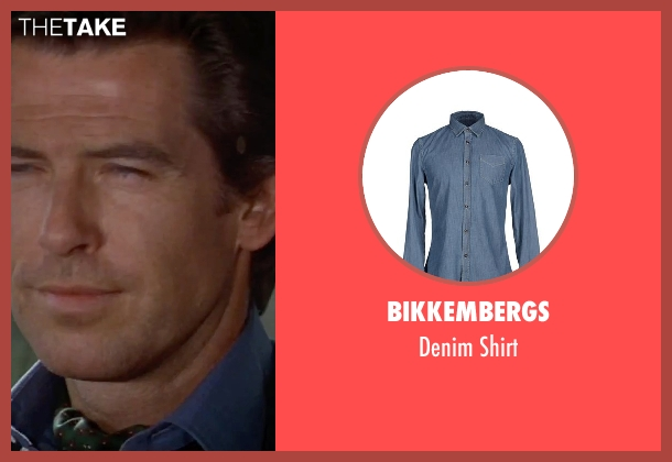 Bikkembergs blue shirt from GoldenEye seen with Pierce Brosnan (James Bond)