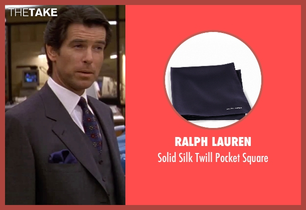 Ralph Lauren blue square from GoldenEye seen with Pierce Brosnan (James Bond)
