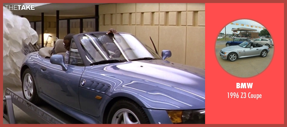 BMW coupe from GoldenEye seen with Pierce Brosnan (James Bond)