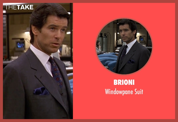 Brioni gray suit from GoldenEye seen with Pierce Brosnan (James Bond)