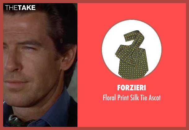 Forzieri green ascot from GoldenEye seen with Pierce Brosnan (James Bond)