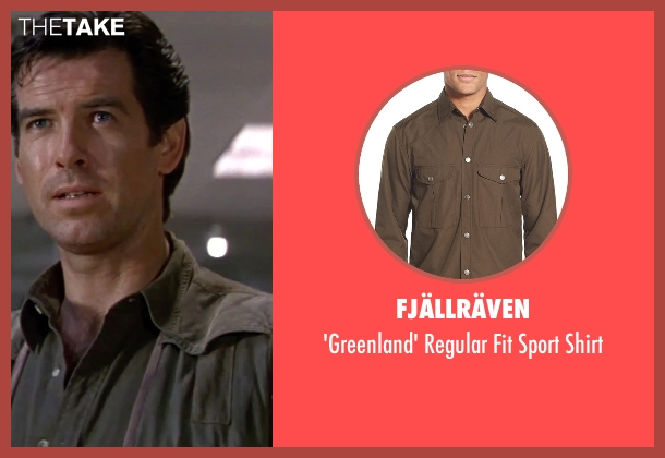 Fjällräven green shirt from GoldenEye seen with Pierce Brosnan (James Bond)