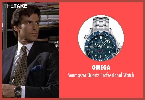Omega silver watch from GoldenEye seen with Pierce Brosnan (James Bond)