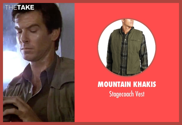 Mountain Khakis vest from GoldenEye seen with Pierce Brosnan (James Bond)