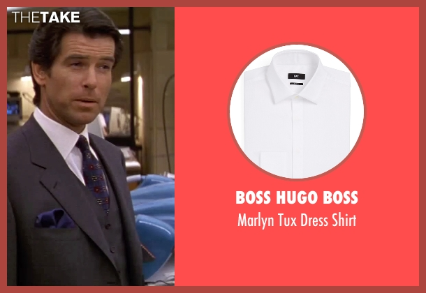 Boss Hugo Boss white shirt from GoldenEye seen with Pierce Brosnan (James Bond)