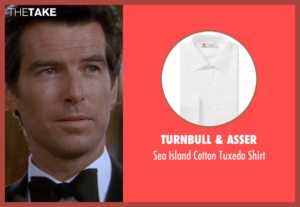 Turnbull & Asser white shirt from GoldenEye seen with Pierce Brosnan (James Bond)