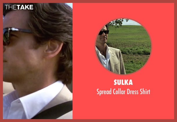 Sulka white shirt from GoldenEye seen with Pierce Brosnan (James Bond)