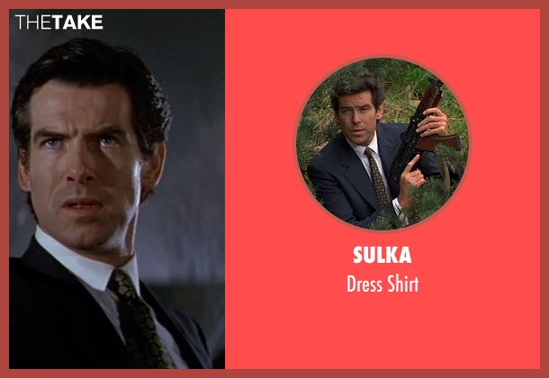 Sulka white shirt from GoldenEye seen with Pierce Brosnan (James Bond)