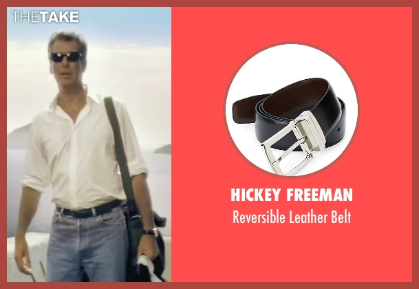 Hickey Freeman black belt from Mamma Mia! seen with Pierce Brosnan (Sam)