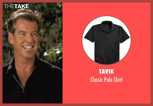 Tavik black shirt from Mamma Mia! seen with Pierce Brosnan (Sam)