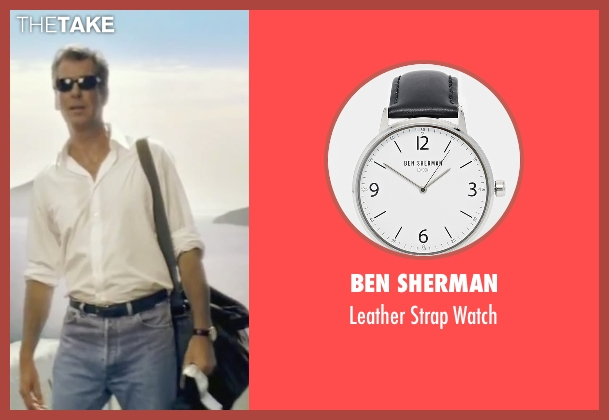 Ben Sherman black watch from Mamma Mia! seen with Pierce Brosnan (Sam)