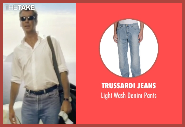 Trussardi Jeans blue pants from Mamma Mia! seen with Pierce Brosnan (Sam)