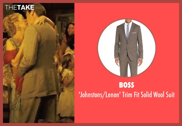 Boss brown suit from Mamma Mia! seen with Pierce Brosnan (Sam)