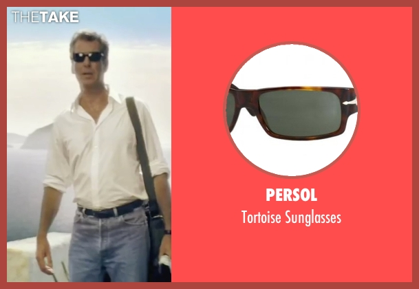 Persol brown sunglasses from Mamma Mia! seen with Pierce Brosnan (Sam)