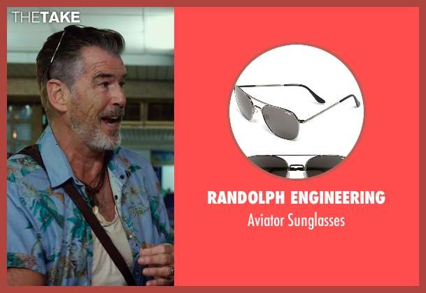 Randolph Engineering black sunglasses from No Escape seen with Pierce Brosnan (Hammond)