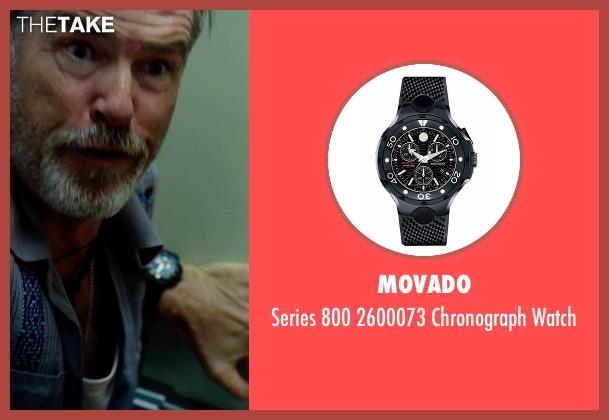 Movado black watch from No Escape seen with Pierce Brosnan (Hammond)