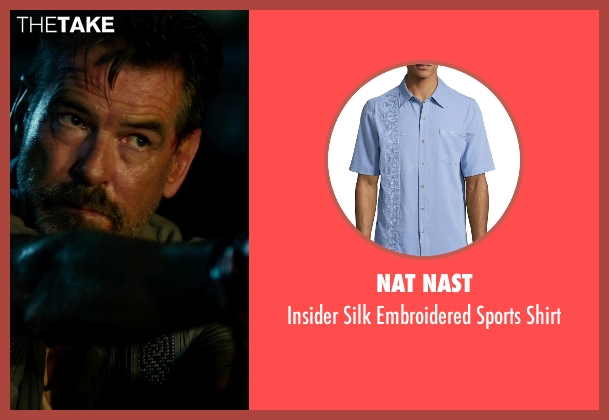 Nat Nast blue shirt from No Escape seen with Pierce Brosnan (Hammond)