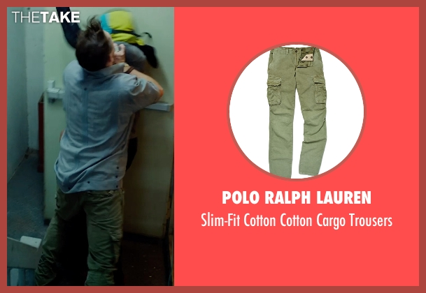 Polo Ralph Lauren green trousers from No Escape seen with Pierce Brosnan (Hammond)