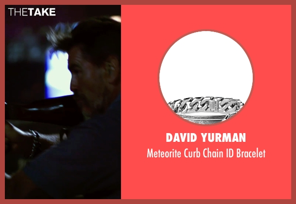 David Yurman silver bracelet from No Escape seen with Pierce Brosnan (Hammond)