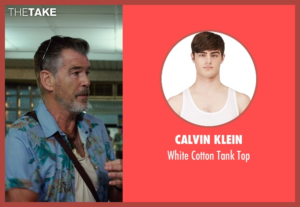 Calvin Klein white top from No Escape seen with Pierce Brosnan (Hammond)