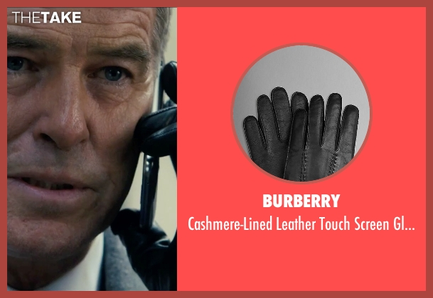 Burberry black gloves from Survivor seen with Pierce Brosnan (The Watchmaker)