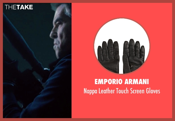 Emporio Armani black gloves from Survivor seen with Pierce Brosnan (The Watchmaker)