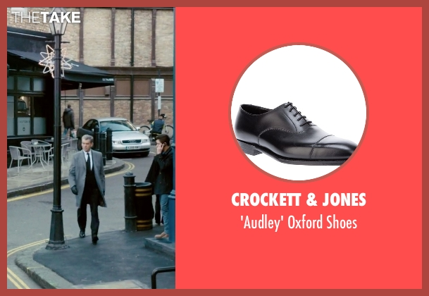 Crockett & Jones black shoes from Survivor seen with Pierce Brosnan (The Watchmaker)
